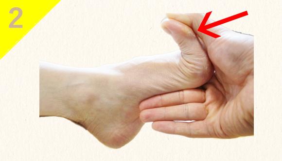 ⑵足の指が90度以上反ってしまう(足指・足裏の筋力低下)